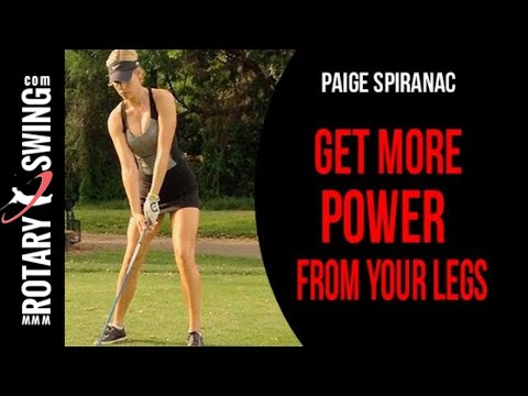 Paige Spiranac Golf Swing Analysis | Power From The Legs