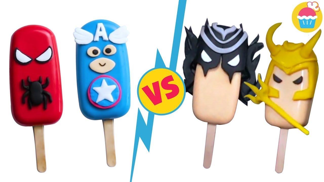 Avengers Endgame Cakesicles | Cake Popsicle For Summer 2021 | Yummy Cake Decorating Ideas  Nyam Nyam