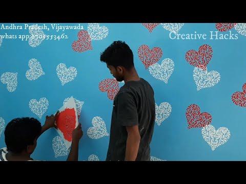 Wall painting Stencil design   Decorating & Stencil Ideas