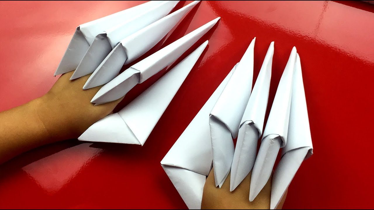 How To Make Origami Claws Origami Dragon Claws Tutorial