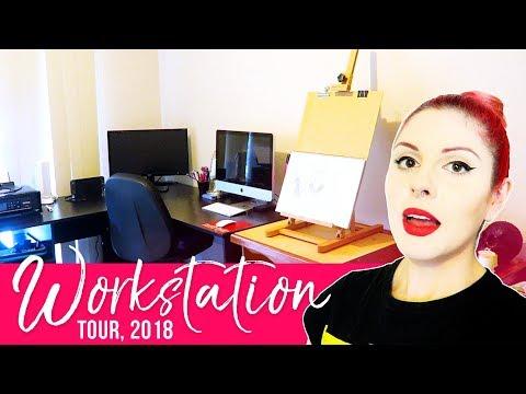 Artist Studio Tour 2018 [YouTube & Live Streaming] // Emma Maree