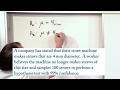 Lesson 9 - Writing The Null and Alternate Hypothesis (Statistics Tutor)