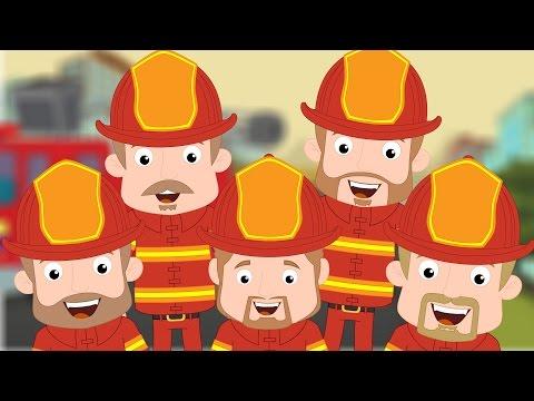 Five Little Firemen  Nursery Rhyme