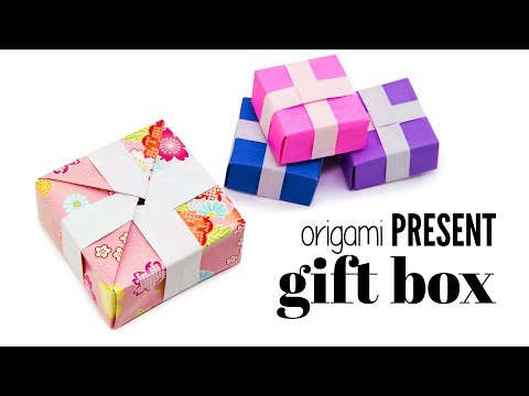 Origami Present Gift Box Tutorial - DIY - Paper Kawaii