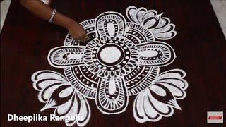 muggulu designs for varalakshmi vratham ll friday kolam designs ll lotus rangoli designs