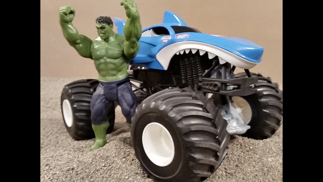 Shark Monster Truck - Hulk - Monster Trucks for Kids - YouTube