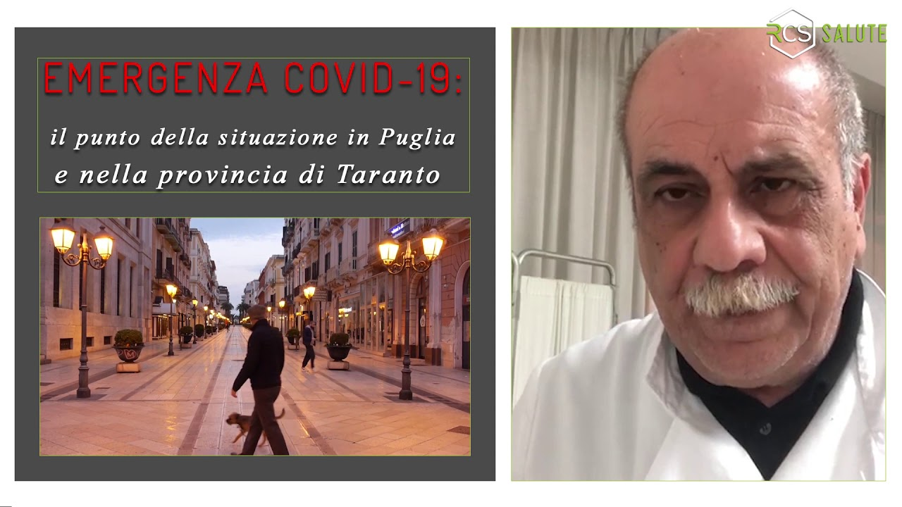 Coronavirus: il punto della situazione a Taranto - Video Messaggio  Dr Cosimo Nume - marzo 2020