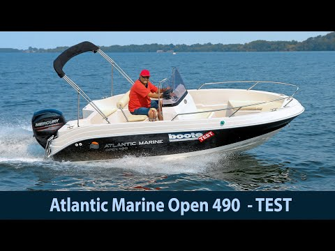 "Bootstest: Atlantic Marine Open 490. Bezahlbares Trailerboot ""just For Fun"" !"