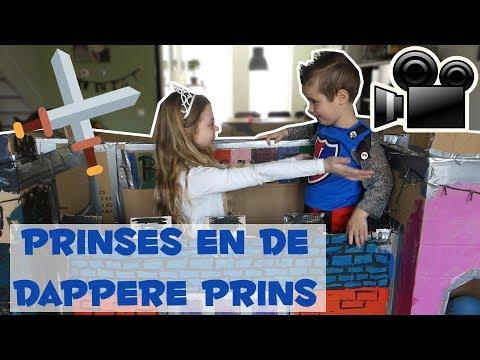 FILM: DE PRINSES EN DE DAPPERE RIDDER!! - Broer en Zus TV VLOG #129
