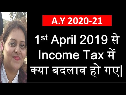 Changes in Income tax from 1st April 2019 . Amendments in income tax applicable from AY 2020-21