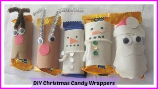 How To Make Reindeer, Snowman, Santa Christmas Mini Candy Bar Wrappers Tutorial, Diy