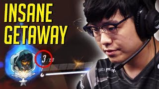 EFFECT PULLS OFF INSANE GETAWAY WITH 3 HP! - Overwatch Best Moments