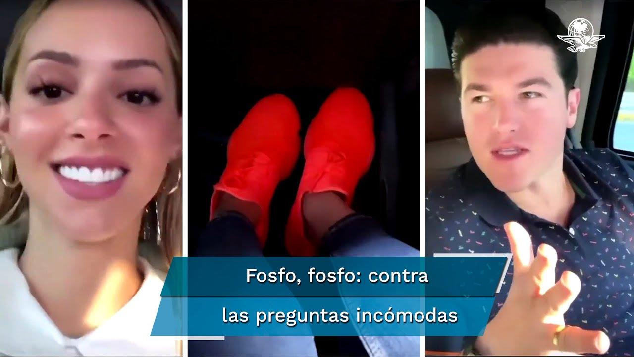 Fosfo, fosfo: Mariana Rodríguez ignora a Samuel García; le dan el avión -  YouTube