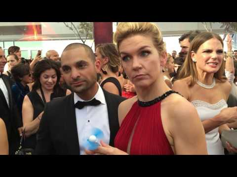 Rhea Seehorn and Michael Mando 'Better Call Saul' on 2016 Emmys red carpet