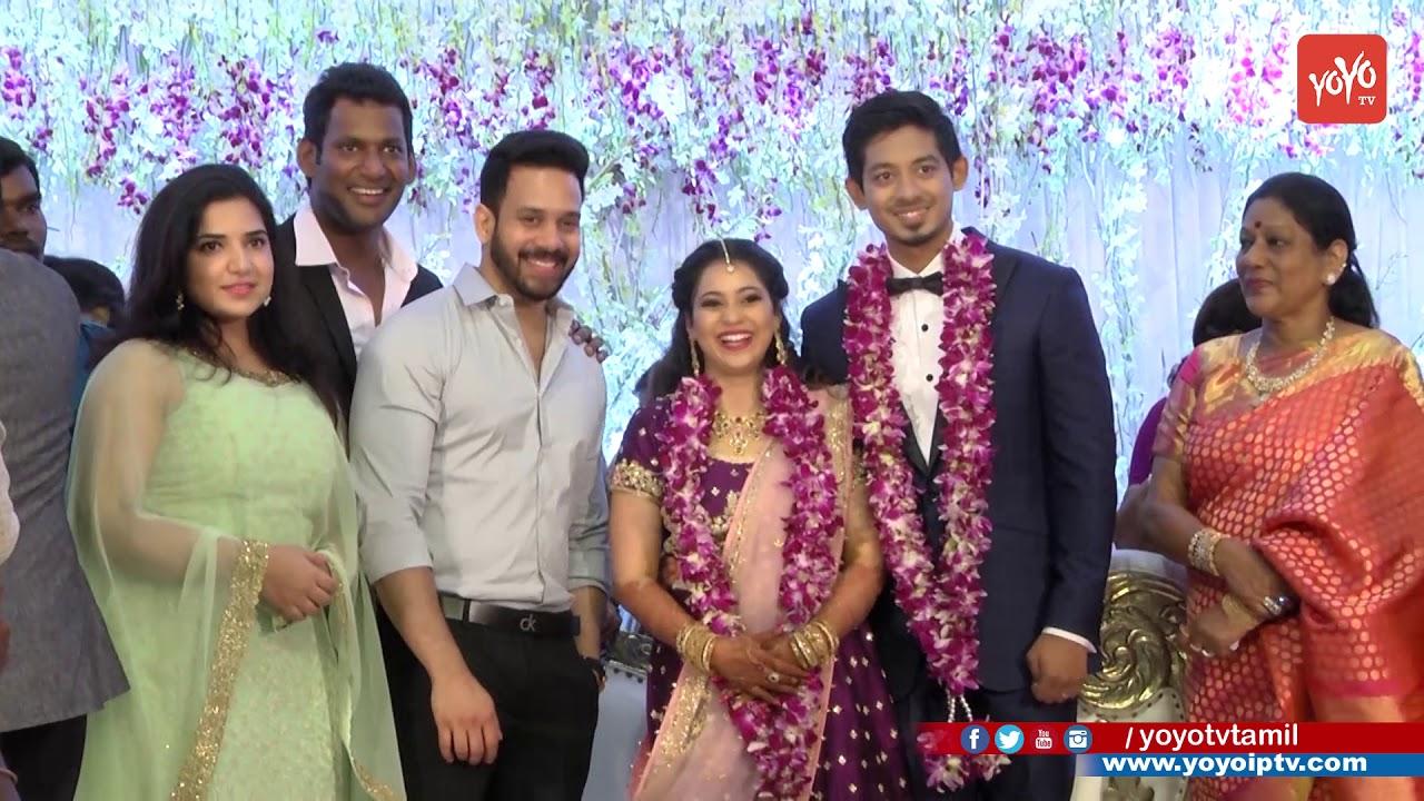 actor vishal sister aishwarya wedding yoyo tv tamil