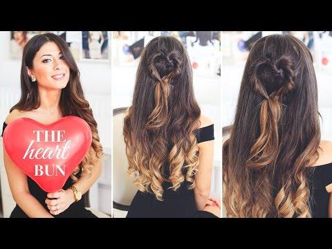 The Heart Bun Valentine's Day Hairstyle