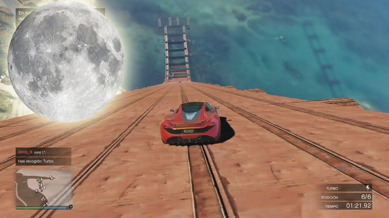 gravedad lunar gameplay gta 5 online funny moments carrera gta v ps4 youtube. Black Bedroom Furniture Sets. Home Design Ideas