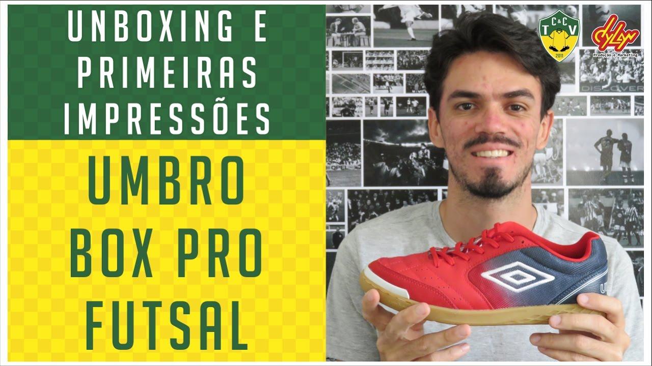ac32a26f46576 CHUTEIRA UMBRO BOX PRO FUTSAL - UNBOXING E PRIMEIRAS IMPRESSÕES ...
