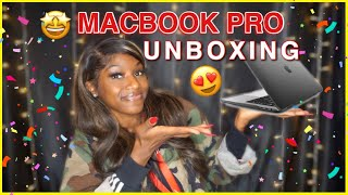 NEW SPACE GREY MACBOOK PRO UNBOXING  + REVIEW/COMPARISON TO MACBOOK AIR   Iyasia Chanel