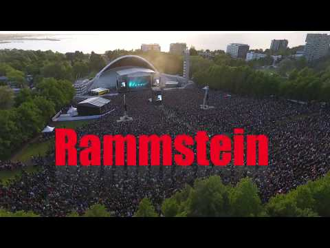Rammstein HD Live in Tallinn 2017 from sky