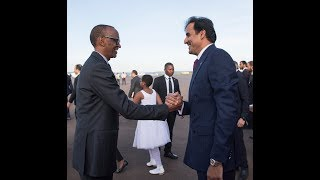 President Kagame Receives Sheikh Tamim Bin Hamad Al Thani Emir Of Qatar