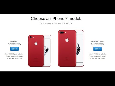 IPhone 7 And 7 Plus In Gorgeous RED Color