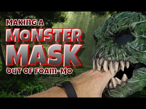 Making a Monster Mask out of Foam Mo