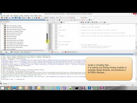 Active hdl - import Altera DDR3 Qsys example - YouTube