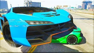 GTA 5 Funny Moments - Insane Car Take-down Fail! - (GTA V Online Stunts & Race)