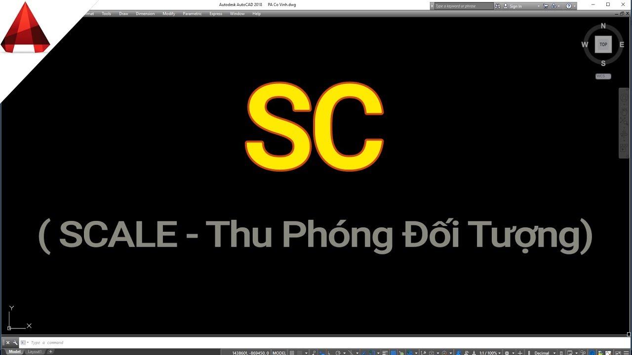 Lệnh SC (Scale) ✅ Thu Phóng Đối Tượng Trong AutoCAD // Tự Học Vẽ AutoCAD // Thuan Nguyen Quang TNQ