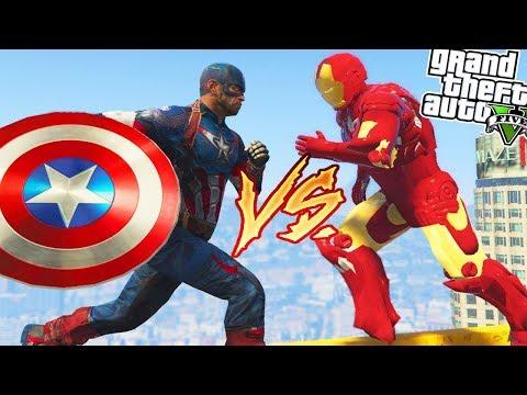 GTA 5: CAPTAIN AMERICA Vs IRON MAN! 💥😱 (GTA 5 Mods Gameplay)