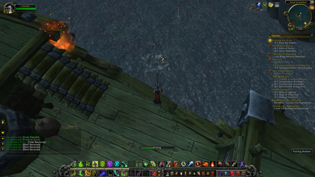World Of Warcraft Catching The Seabottom Squid Legion Fishing Guide