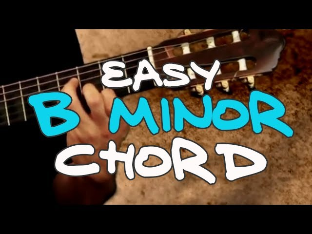 Easy B minor (Bm) Chord - Real Beginning Guitar Lessons Chords ...