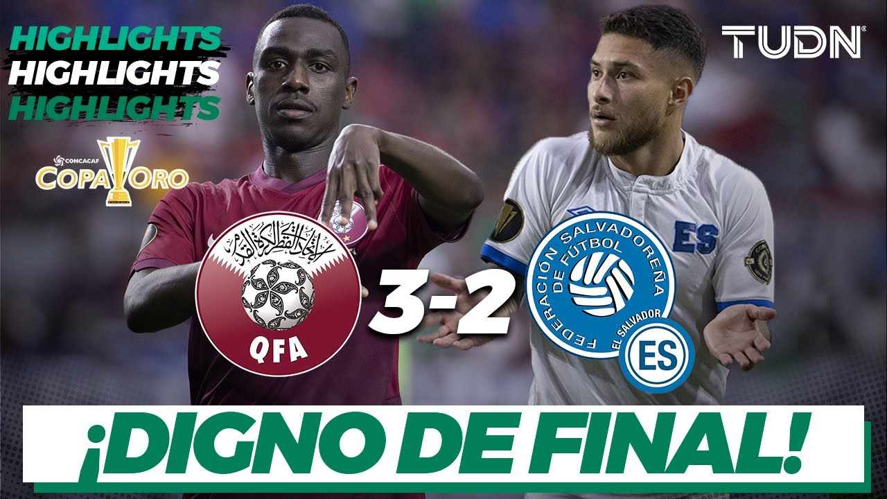 Download Highlights | Qatar 3-2 El Salvador | Copa Oro 2021 - Cuartos | TUDN