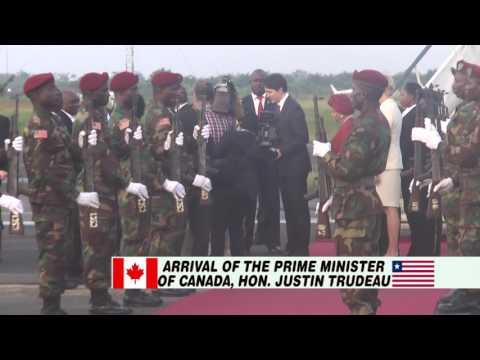CANADIAN PRIME MINISTER JUSTIN TRUDEAU VISITS LIBERIA (NOVEMBER 22, 2016)