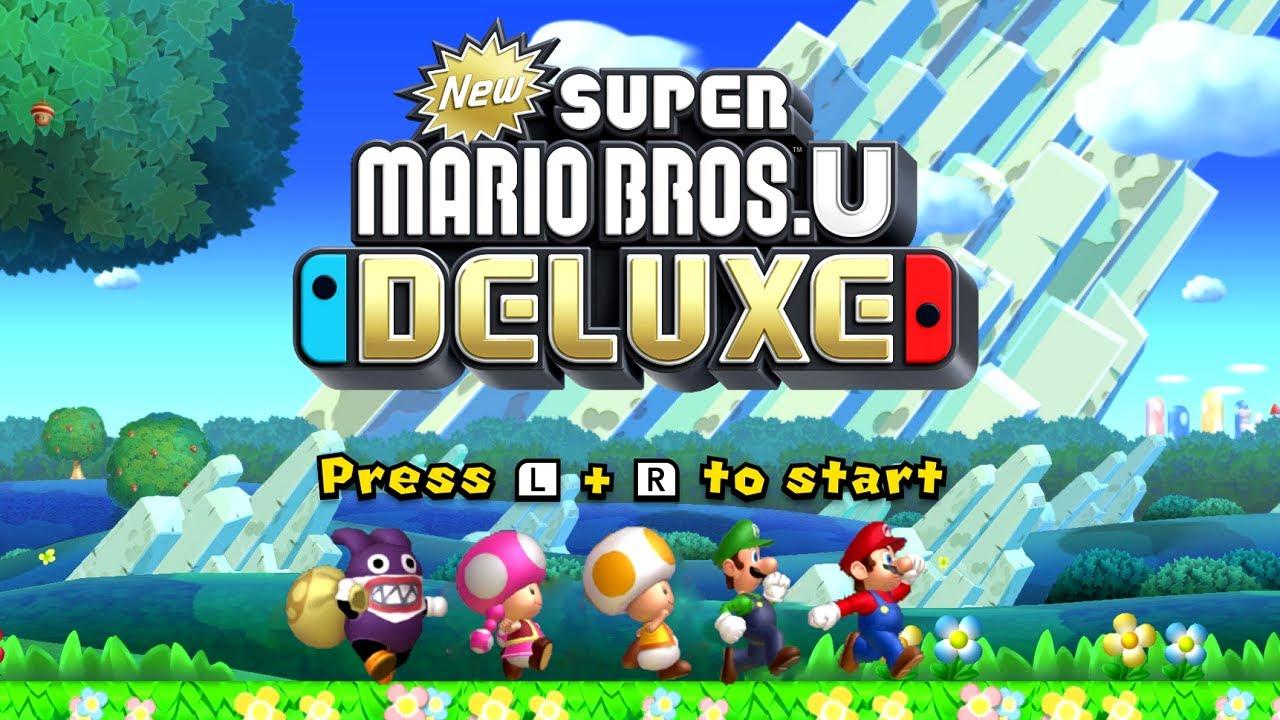 New Super Mario Bros U Deluxe Full Game Walkthrough Youtube