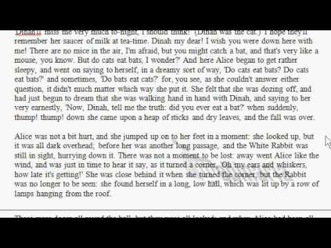 Alice In Wonderland - Reading - Chapter 1 - Lewis Carol - British English Reading