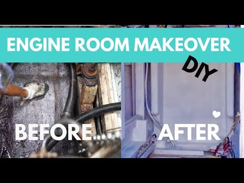How to Fiberglass & Engine Room Makeover! (Sailing Nandji) Ep 120