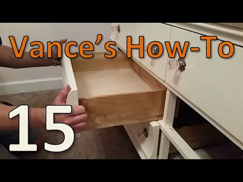 Project #15 - Dresser Drawer Slide Replacement