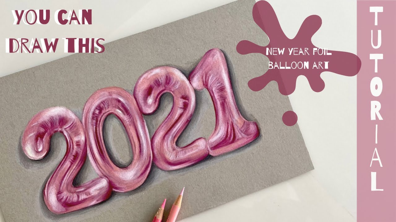 2021 || Foil balloon Art || Easy tutorial video using prisma colours ||