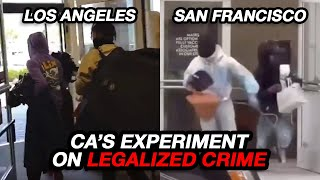 Criminals Brazenly Shoplift from TJ Maxx, and CA Encourages crime with their liberal agenda