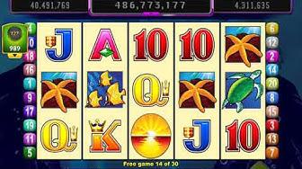 DOLPHIN TREASURE Video Slot Casino Game with a RETRIGGERED FREE SPIN BONUS