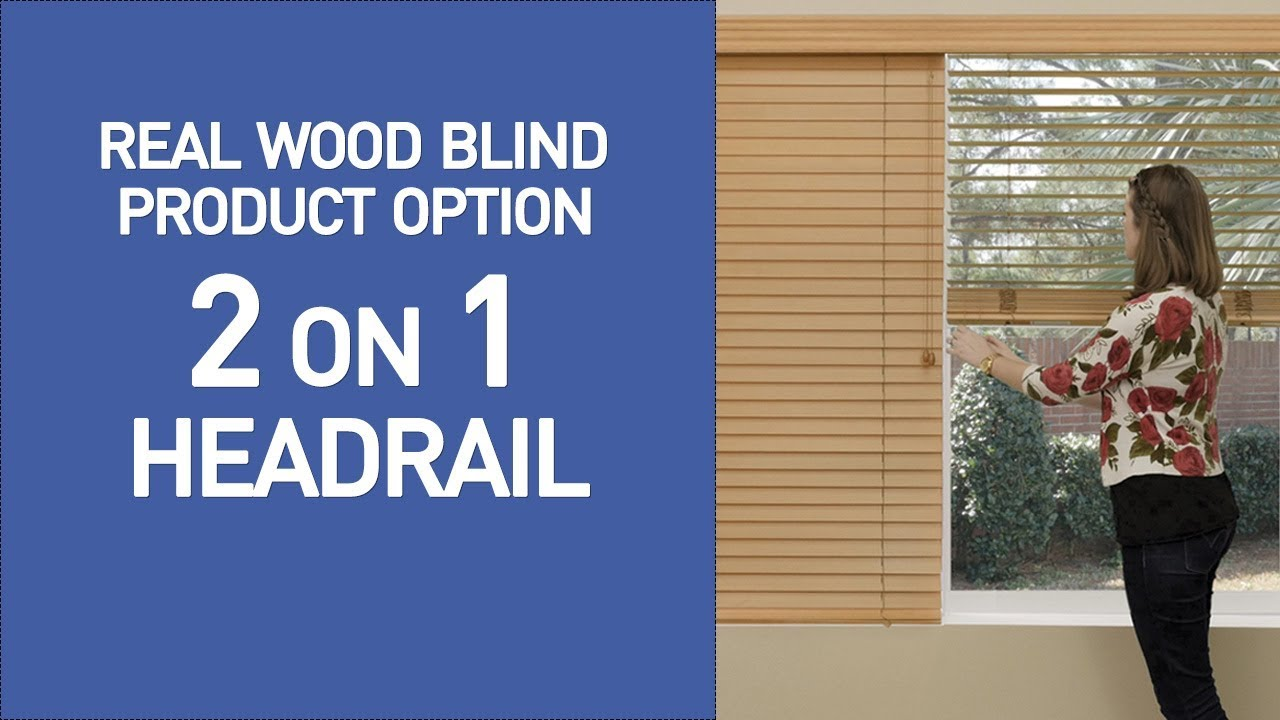 2 On 1 Headrail Wooded Blinds Demo Youtube