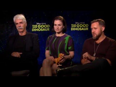 THE GOOD DINOSAUR: Backstage with Sam Elliott, Anna Paquin & AJ Buckley
