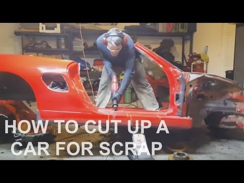 How to cut up a car scrap and recycling after part out selling on eBay