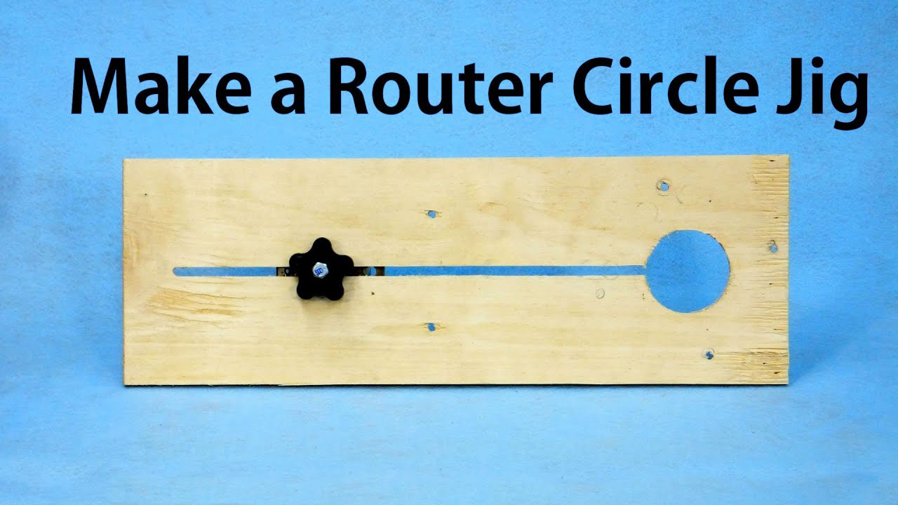 how to make a router circle jig a woodworkweb youtube