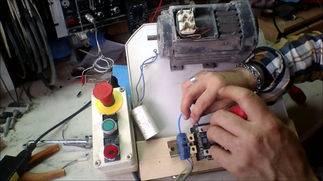 Schema Elettrico Motore Avanti Indietro : Come far girare un motore monofase sia a dx che sx youtube