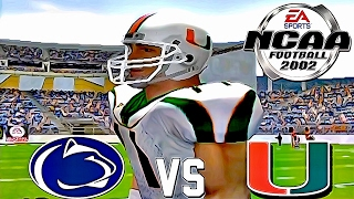 NCAA Football 2002 🏈 HD PS2 GAMEPLAY!!! | PENN ST vs. #2 MIAMI | Season Mode Ep.1