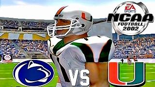 NCAA Football 2002 🏈 HD PS2 GAMEPLAY!!! | PENN ST vs. #2 MIAMI | Season Mode Ep.1