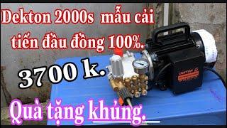 máy rửa xe mini cao áp dekton 2000s mẫu cải tiến chất lượng  siêu mạnh /Máy Xây Dựng Thái Bảo.